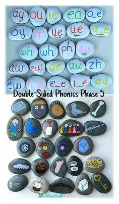 Double-Sided Phonics Phase 5 Story Stones   You can find me on facebook https://m.facebook.com/stonecraftforyouuk