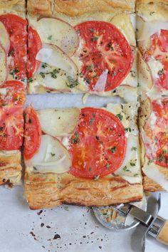 Potato and Tomato Tart #savory #tart #brunch