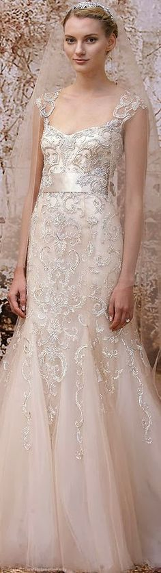 Fashion and More: Monique Lhuillier Bridal Fall 2014 | See More