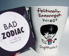 Funny Mug / Sagittarius Zodiac Mug / Rude by 39Cups on Etsy, $12.95