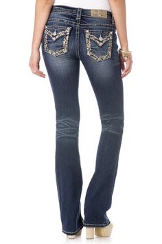 """Check out """"Treasure Hunt Mid-Rise Boot Cut Jeans"""" from Miss Me 25-26"""