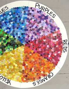 using old magazines and making individuals color wheels or a big group one could be fun