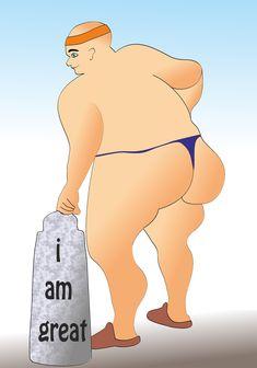 dicker mann - i am great Sport ist Mord Winnie The Pooh, Creative, Cinderella, Disney Characters, Fictional Characters, Sport, Comics, Disney Princess, Design
