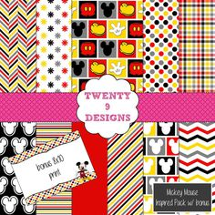 Mickey Mouse  Inspired Pack with Bonus  INSTANT by Twenty9Designs, $4.00