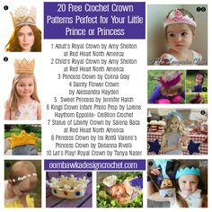 20 Free Crochet Crown Pattern for Your Prince or Princess