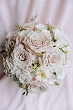 Blush Roses #Wedding Bouquet ~ ~ Photographer:  Arte De Vie, Kim Starr Wise Floral Events
