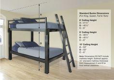 Queen Over Queen Bunk Bed | Queen Size Bunk Beds | FrancisLofts.com