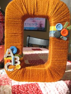 Yarn Wrapped MonoGram LetteR 12 in Custom by WeeBits2 on Etsy, $24.99