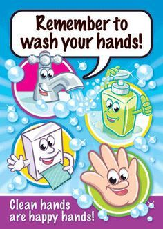 Promote good hygiene for children. Colourful posters with child friendly characters and messages. Poster size: Encapsulated to stay waterproof 4 posters per pack Ref: Price FREE UK DELIVERY ex VAT) Hand Hygiene Posters, Hygiene Lessons, Hand Washing Poster, Proper Hand Washing, All About Me Preschool, Nurse Office, Classroom Rules, Classroom Posters, Classroom Decor