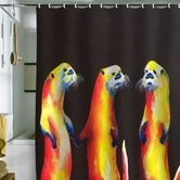 Found it at Wayfair - Clara Nilles Flaming Otters Shower Curtain