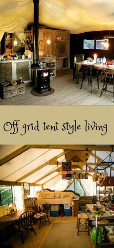 "Living in an Off Grid Tent Homesteading  - The Homestead Survival .Com     ""Please Share This Pin"""