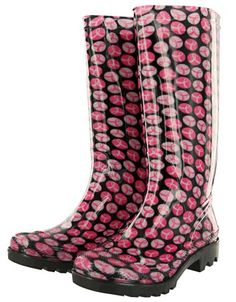 Pink Ribbons Galore Ultralite Rain Boots™ at The Breast Cancer Site. Purchase funds free mammograms. Just $18.