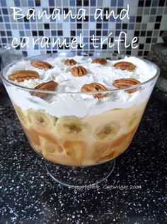 Craft with Ruth Cartwright: Banana and caramel trifle recipe