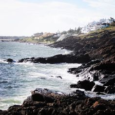 The west side of Punta Ballena with Casapueblo clinging to the rocks. What a beautiful sight! Uruguay in 2010. Punta del Este is just down the road. The water you see is the bay that leads to Solanas beach.