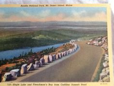 Eagle lake and Frenchman bag - Acadia national Park