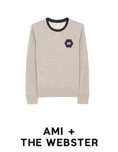 AMI + The Webster #menfitness #mensfitness #mensports #sweatshirts #hoodies #fitmen