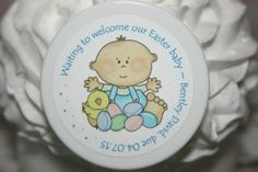 Baby Shower Favors  Unique Personalized Whipped by HuckleBeeHollow, $2.95
