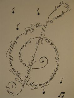 Treble clef psalm