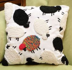 While I wait eagerly to plant my garden stroll in the sun and do all the other merry outdoorsy things that spring promises Im Embroidery Art, Cross Stitch Embroidery, Embroidery Patterns, Sewing Crafts, Sewing Projects, Punch Needle Patterns, Punch Art, Rug Hooking, Decorative Pillows