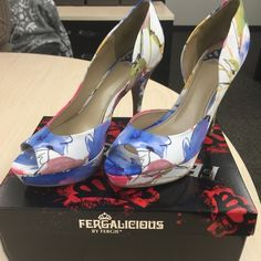 """Brand new peep toes Beautiful new peep toes by Fergie!  4"""" heels with 1"""" platform, these are a friend of mines so no trades, sorry!  Reasonable offers accepted comes with box Fergie Shoes Heels"""