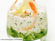 Shrimp and salmon fresh Verrine – License high-quality food images for your projects – Rights managed and royalty free – 60125971 Tapas, Fish Recipes, Healthy Recipes, Amazing Food Photography, Finger Foods, I Foods, Food Styling, Entrees, Cucumber