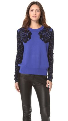 Torn by Ronny Kobo Elsa Mirrored Tigers Sweater