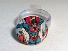 "Comic Book 1.5"" Button// Superman, $1.00"