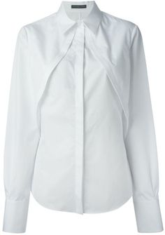 Alexander McQueen pleated panel shirt on shopstyle.co.uk
