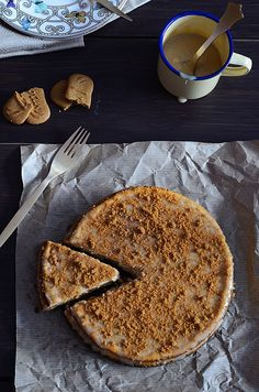 ¡Qué cosa tan dulce!: Tarta de queso y calabaza con cobertura de toffee y speculoos