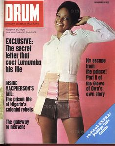 Drum Magazine, Black Magazine, Black History Month Quotes, Black History Facts, Vintage Drums, Vintage Ads, Life In The 1950s, Types Of Organisation, African Life
