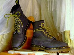 """Doc Martens hit mainsteam American after they were popularized in the mid-80s and early 90s by grunge rock-types in the U.S. Northwest, but the famous boot was created in 1960 by Dr. Klaus Maertens, a German soldier on leave from the battlefield.In the late 60s, steel-toed Doc Martens were deemed """"offensive weapons"""" and British football fans were banned from wearing them to games.The shoes were also embraced by skinheads, who used the color of the shoelaces to send messages. (White could s..."""