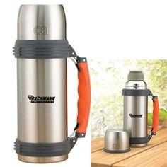 Vacuum Flask with Fashion Handle Keeps hot drinks hot Double wall vacuum flask Stainless Steel Construction Sturdy Carry Handle Holiday Drinkware, Vacuum Flask, Stainless Steel, Canning, Drinks, Construction, Hot, Wall, Handle