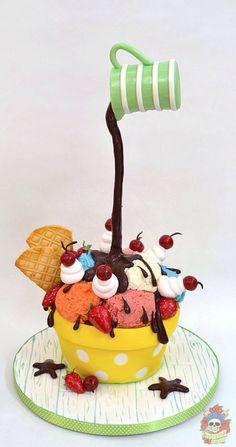 Ice Cream Cake #icecream #cakedesign