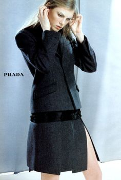 Prada Fall/Winter 1998.99: Angela Lindvall by Norbert Schoerner - the Fashion Spot