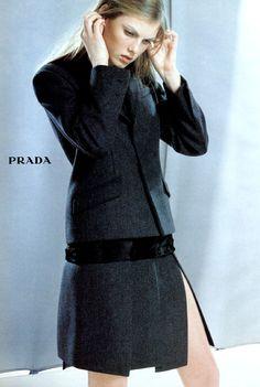 Angela Lindvall for Prada Fall 1998.