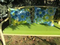 Outdoor Indoor Pillows by 12dozen on Etsy