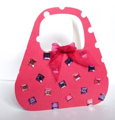 pretty hand bag card  ideal for mothers day  by CabbagePatchCards, £1.99