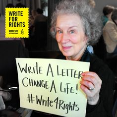 Write For Rights with Amnesty International Canada to free prisoners of conscience, support human rights defenders and end urgent cases of human rights abuse. Amnesty International, Change Maker, Margaret Atwood, Liking Someone, Human Rights, Women Empowerment, Prison, December, Join