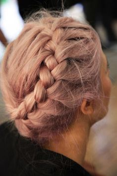 I love everything about her hair. The color. The braid. To die for.