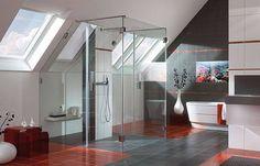modern glass shower
