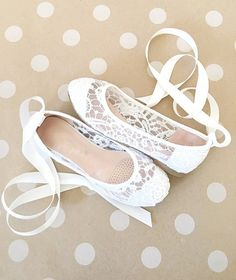 White Crochet GIRLS SHOES Flower Girl Shoes Lace up by kaileep