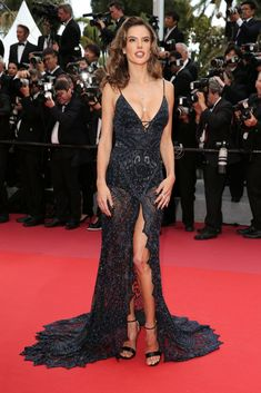 """Alessandra Ambrosio attends the screening of """"Solo: A Star Wars Story"""" during the annual Cannes Film Festival at Palais des Festivals on May 2018 in Cannes, France. Alessandra Ambrosio, Look Star, Palais Des Festivals, Festival Looks, Cate Blanchett, Celebrity Look, Cannes Film Festival, Red Carpet Fashion, Beautiful Gowns"""