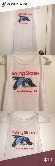 Rolling stone muscle tee Never worn. Brand new condition. Thin tee shirt material. Tops Muscle Tees