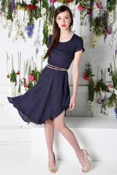 ROYALS DRESS | Amber Whitecliffe Royal Dresses, Dress Collection, Royals, Amber, Reception, Short Sleeve Dresses, Navy, My Style, Fashion
