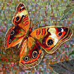 papillon Mosaic butterfly on very busy background Butterfly Mosaic, Mosaic Birds, Glass Butterfly, Butterfly Design, Mosaic Artwork, Mosaic Wall, Mosaic Glass, Mosaic Crafts, Mosaic Projects