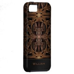 Elegant, personalizable Steampunk Engine Abstract Fractal Artwork iPhone 5 Case #fractal #abstract #steampunk #iPhone #cases #fantasy #tech $49.95