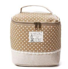 7748fff06 'Quaint' Multifunction Linen Cosmetic Makeup Bag Saco De Higiene,  Sobrancelhas, Maquiagem Cosmética