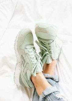 d1b663e1615b2 Reebok GL 6000 Grunge Goth, Leather Trainers, Urban Outfitters, Running  Sneakers, Running