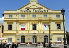 """#Málaga - Teatro Cervantes - 36º 43' 17"""" -4º 25' 17"""" / 36.721389, -4.421389  El Teatro Cervantes de la ciudad española de Málaga es el más antiguo espacio escénico de la capital de la Costa del Sol, data de 1870 y cuenta con mil doscientas localidades. Es la sede principal del Festival de Málaga. Fuente: http://www.teatrocervantes.com/."""