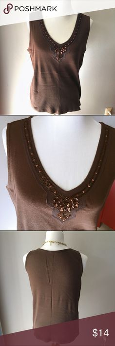 Lane Bryant Beaded Tank This tank has gorgeous Beaded embellishments. Perfect for layering this fall! Size 18/20 100%  cotton Lane Bryant Tops Tank Tops